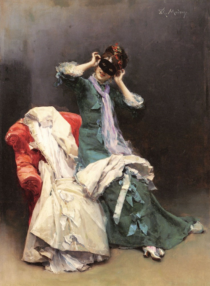 Preparing For The Costume Ball by Raimundo de Madrazo y Garreta