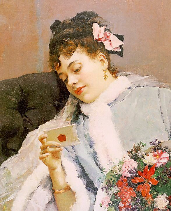 The Love Letter by Raimundo de Madrazo y Garreta