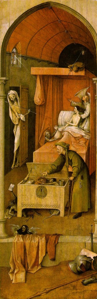 Death and the Miser by Hieronymus Bosch