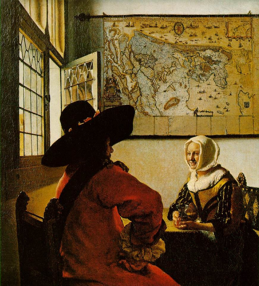 Soldier And A Laughing Girl by Johannes Vermeer